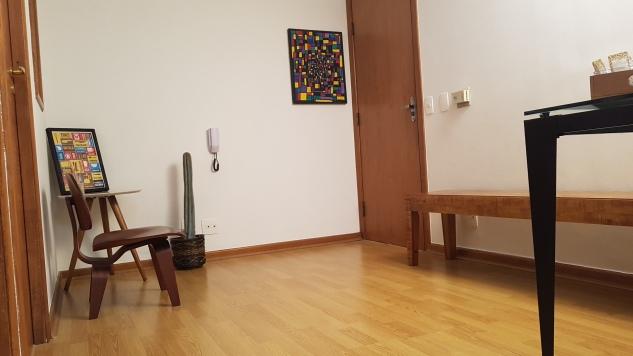 Sala de espera com som ambiente
